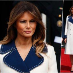 Fashion Notes: Melania Trump Channels Jackie Kennedy in Mod Gucci Coat