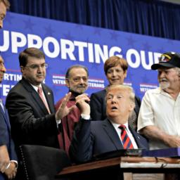 Las Vegas Marine Thanks Donald Trump for Keeping Promise to Veterans