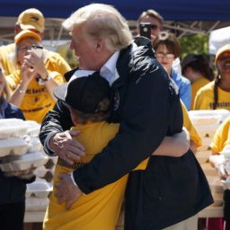 North Carolina Boy Asks Donald Trump for a Hug After Hurricane Florence