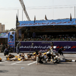 Pictures: Iran Blames U.S. and Israel After Gunmen Open Fire on Military Parade