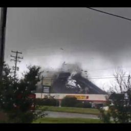 Video Catches Dramatic Footage as Tornado Destroys Roof of Virginia Business