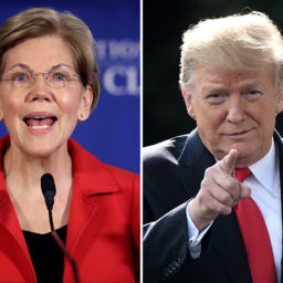 Elizabeth Warren, Without Evidence, Accuses Trump of Making 'Creepy Physical Threats'