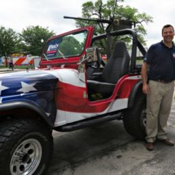 Kris Kobach Prevented from Riding in City Parade with Replica Military Gun