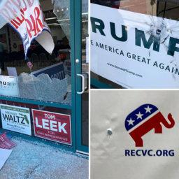 Photos: Vandals Shoot up South Daytona Republican Party Office