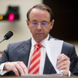 Rod Rosenstein to Testify on Reports of Secret Trump Recording Plans