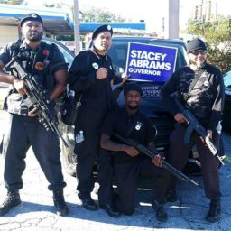 Armed Black Panthers Lobby for Democrat Gubernatorial Candidate Stacey Abrams