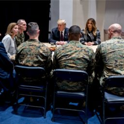 Donald Trump and Melania Trump Visit Hero Marines in Washington, DC