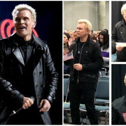 English Rock Star Billy Idol Celebrates Becoming a U.S. Citizen
