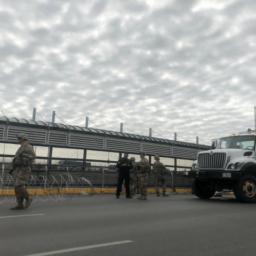 PHOTOS: U.S. Military Troops Reinforce International Bridge Ahead of Migrant Caravan