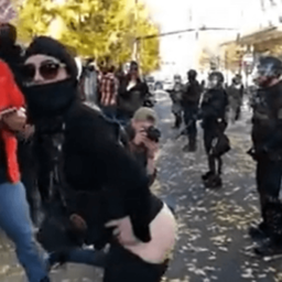 WATCH: Female Antifa Member Allegedly Spits on, Punches Conservative Activist