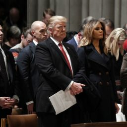 Donald Trump and Melania Trump Attend Church in D.C. for Christmas
