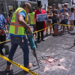 Man Suspected of Painting Swastikas on Trump's Hollywood Walk of Fame Star Arrested