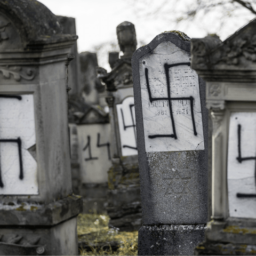 Pictures: Jewish Cemetery Outside Strasbourg Desecrated with Nazi Swastikas
