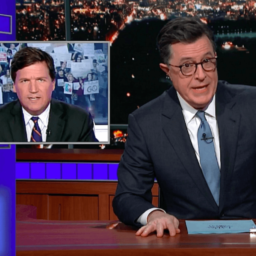 Stephen Colbert Piles On Tucker Carlson: 'The Little Racist Who Could'