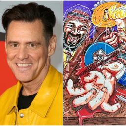 Jim Carrey Draws Trump Sawing a Reporter in Half