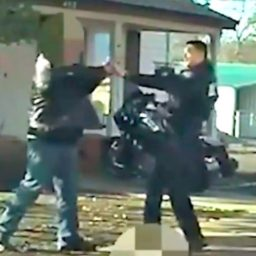 WATCH: Suspect Points Gun at Officer's Face, Gets Shot Three Times