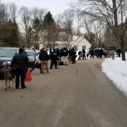Dozens of K9 Officers Visit Terminally Ill Girl Who Loves Dogs