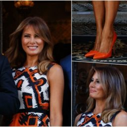 Fashion Notes: Melania Trump Kicks Off Spring Season in Neon Manolo Blahniks