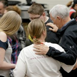 Mike Pence Comforts Victims of Nebraska Flooding Disaster