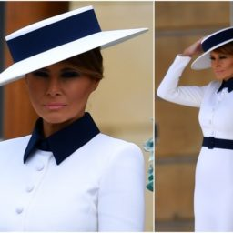 Fashion Notes: Melania Trump Meets the Queen In Iconic Herve Pierre Hat