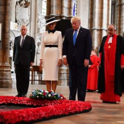 Pictures: President Trump Lays Wreath at Tomb of the Unknown Warrior in Westminster Abbey