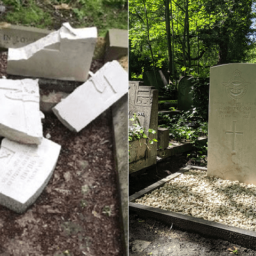 Pictures: War Graves Found Smashed on D-Day Anniversary Restored to Former Glory