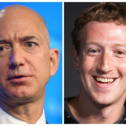 Jeff Bezos, Mark Zuckerberg Try to Sneak 'Country Cap' Prize from President Donald Trump