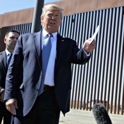 Donald Trump Signs, Shows Off Newly Constructed Wall on San Diego Border