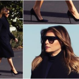Fashion Notes: Melania Trump Touchdowns in Burberry, Celine for LSU-Alabama Football Game