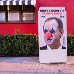 Street Artist Sabo Skewers Adam Schiff, Impeachment Hearings as 'Shameless'