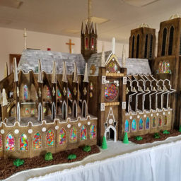Church Members Create 7-Foot-Tall Gingerbread Replica of Notre Dame