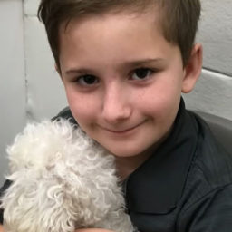 Adopted Boy Makes It His Mission to Save Old Dogs Who Need a Home