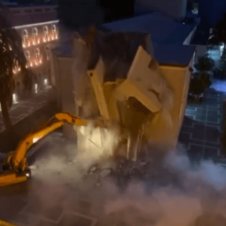 Watch: Left-Wing Albania Government's Midnight Bulldozer Raid Destroys National Theatre