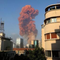 Massive Explosion Rocks Port District of Beirut, Lebanon