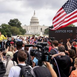 'Justice for J6': Peaceful Protesters Call for Due Process for Capitol Attack Detainees